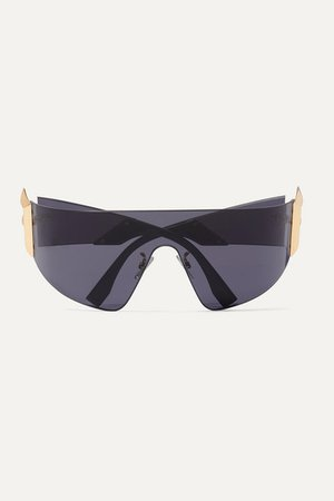 Fendi | Oversized D-frame metal sunglasses | NET-A-PORTER.COM