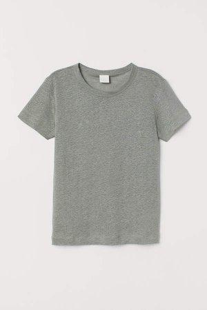 Linen T-shirt - Green