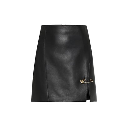 Leather Miniskirt - Versace | Mytheresa