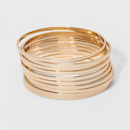 Bangle Bracelet 10pc - A New Day™ Gold : Target