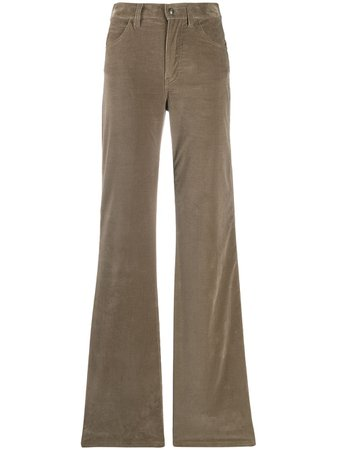 Green Etro flared style trousers - Farfetch
