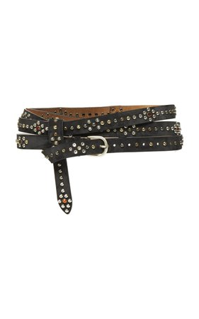 Djelvis Studded Leather Belt by Isabel Marant | Moda Operandi