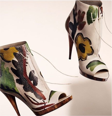 Burberry painted boots