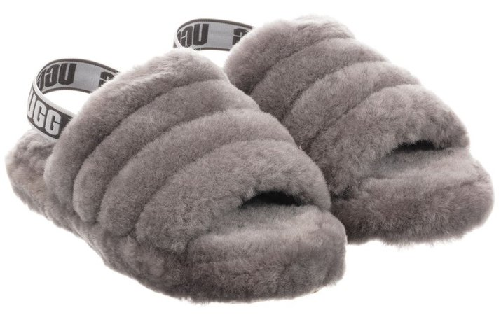 UGGS Grey Shearling Slippers