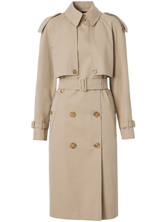 Burberry cotton gabardine trench coat - FARFETCH