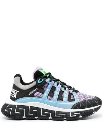 Shop purple Versace Trigreca low-top sneakers with Express Delivery - Farfetch