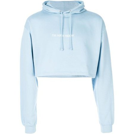 F.A.M.T. cropped hoodie (£95) ❤ liked on Polyvore featuring tops, hoodies, shirts, crop top, blue, hoodie shirt, shirt hoodies, blue cotton s… | Attire | Crop top hoodie, Sweater hoodie, Cropped hoodie