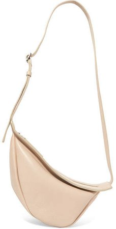Slouchy Banana Small Leather Shoulder Bag - Beige