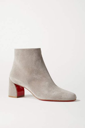 Turela 55 Suede Ankle Boots - Light gray