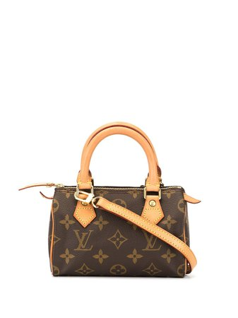Louis Vuitton Pre-Owned Mini Speedy Hand Bag | Farfetch.com