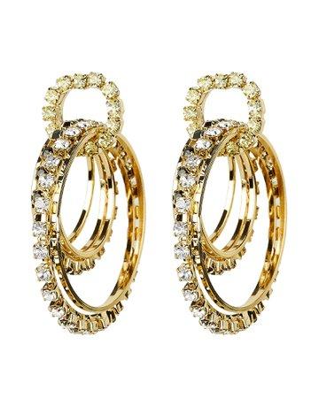 Rock Circle Crystal Earrings   INTERMIX®