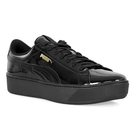 Patent Platform Trainers In Black Puma Trainers