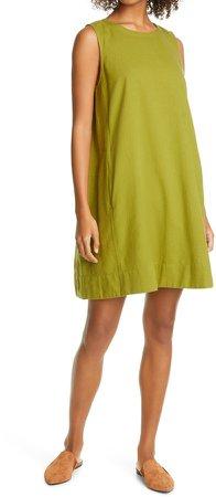 Organic Cotton Blend Sleeveless Shift Dress