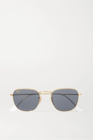 Gold Frank Legend square-frame gold-tone sunglasses | Ray-Ban | NET-A-PORTER