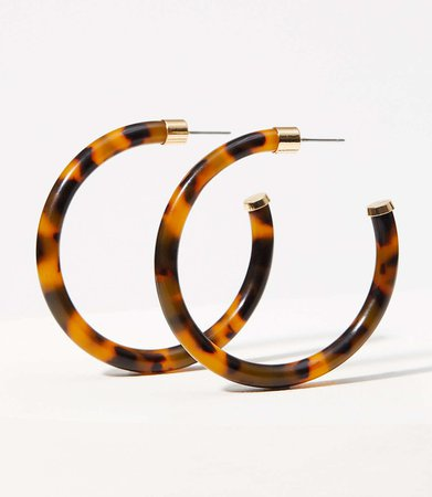Resin Hoop Earrings | LOFT