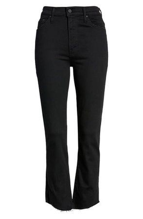 MOTHER The Insider Two Step Fray Hem Crop Jeans (Not Guilty)   Nordstrom