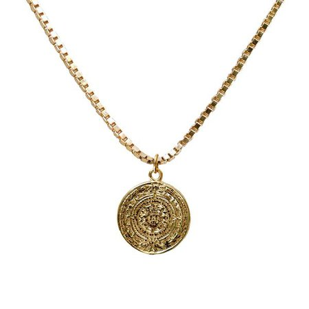 Vintage Rosetta Coin Necklace   Love Tatum Jewelry