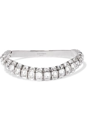Alexander McQueen | Silver-tone crystal choker | NET-A-PORTER.COM