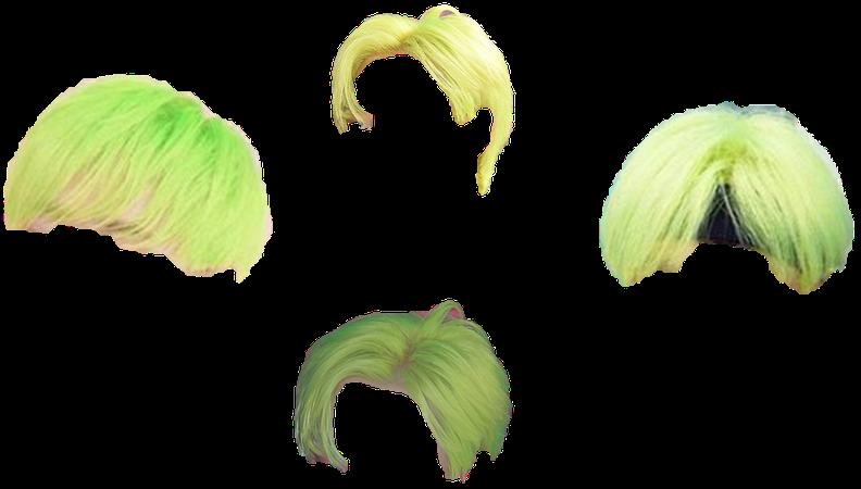 Short Neon Green Hairstyles (Suju Eunhyuk)