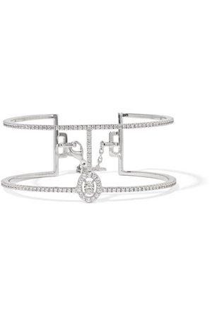 Messika   Glam'Azone 18-karat white gold diamond bracelet   NET-A-PORTER.COM
