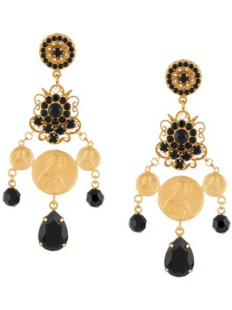 Dolce & Gabbana Votive Image Rhinestone Earrings - Farfetch