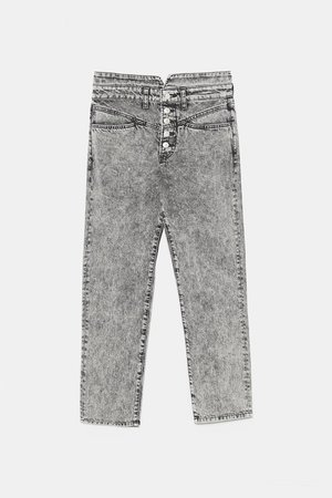 JEANS ZW PREMIUM '80S STRAIGHT ACID BLACK - JEANS-WOMAN-SALE | ZARA New Zealand
