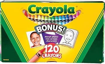 Crayola 120-Count Original Crayons, Assorted Color,Size: large