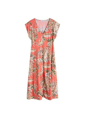 MANGO Midi printed dress