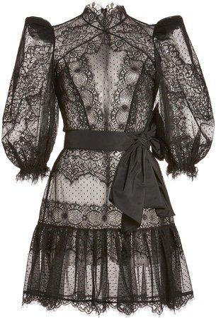 Zuhair Murad Vreeland Lace Mini Dress