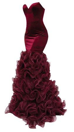 Dress Long mermaid red velvet