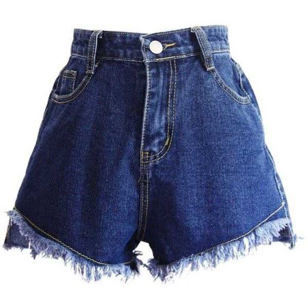 Dark Blue Jean High Waisted Shorts