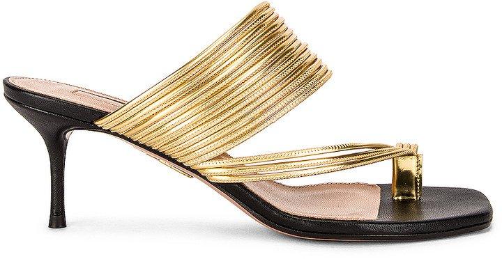 Sunny 60 Sandal in Black & Gold | FWRD