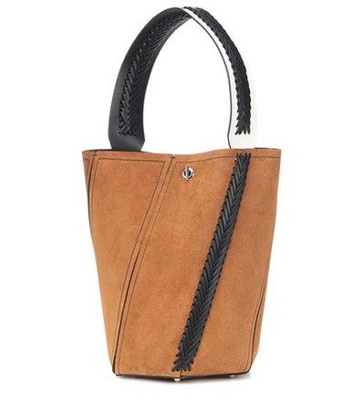 Hex Medium suede bucket bag