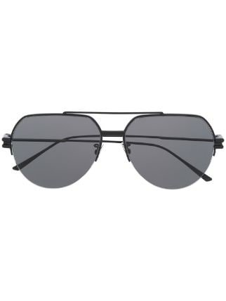 Bottega Veneta Aviator Frame Sunglasses - Farfetch