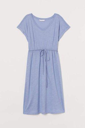 MAMA Cotton-blend Dress - Blue