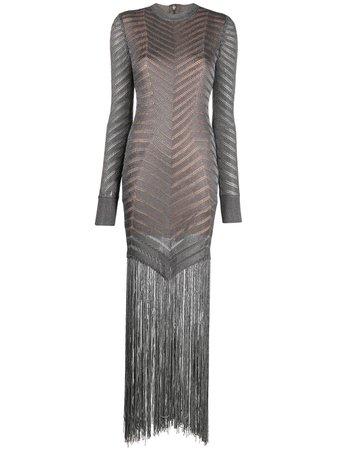 Hervé Léger fringed knitted cocktail dress - FARFETCH
