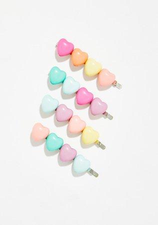 Pastel Heart Bobby Pins | Dolls Kill