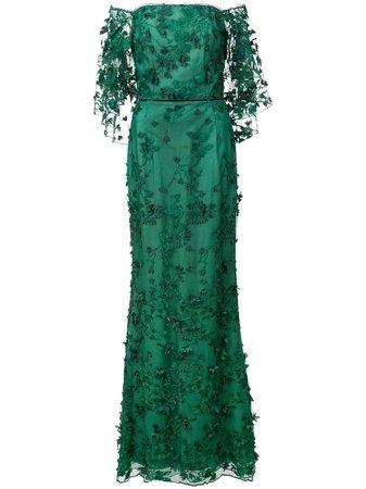 Marchesa Notte Vestido Longo Floral - Farfetch