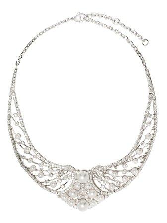 Yoko London 18kt White Gold Diamond Heirloom Necklace - Farfetch