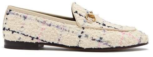 Jordaan Horsebit Tweed Loafers - Womens - Ivory Multi