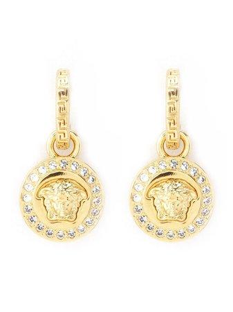 Versace Greca And Medusa Drop Earrings - Farfetch