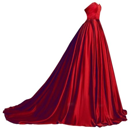Dress long red