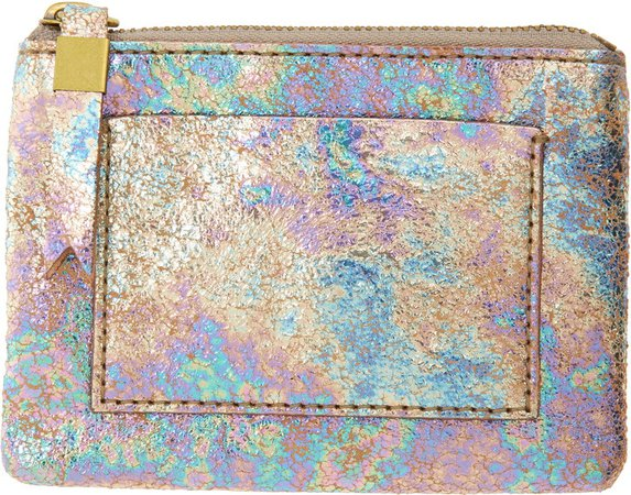 Iridescent Leather Pocket Pouch Wallet