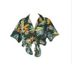 tied hawaiian shirt