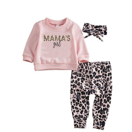 Bmnmsl - Bmnmsl Newborn Baby Girl Clothes Set Winter Sweathirt Pants Trousers Headband Outfit 0-24 Months - Walmart.com - Walmart.com