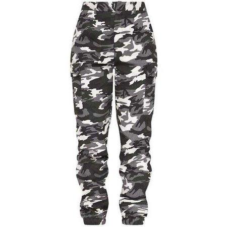 Stone Camo Print Cargo Trousers ($38)