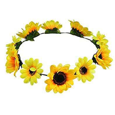 sunflower head band