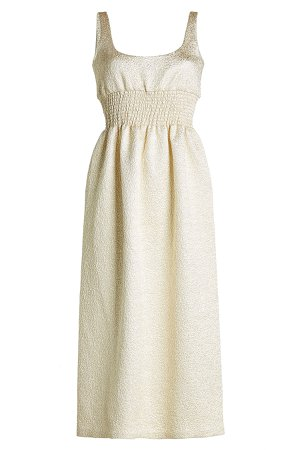 Metallic Dress with Silk and Cotton Gr. UK 8