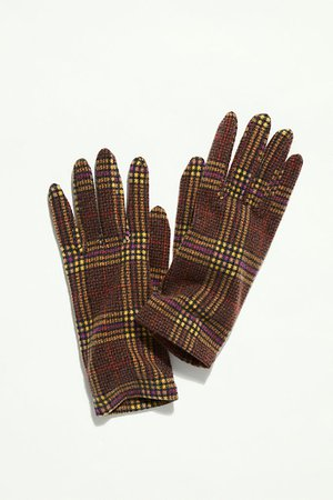 Piazza Plaid Fleece Gloves | Free People