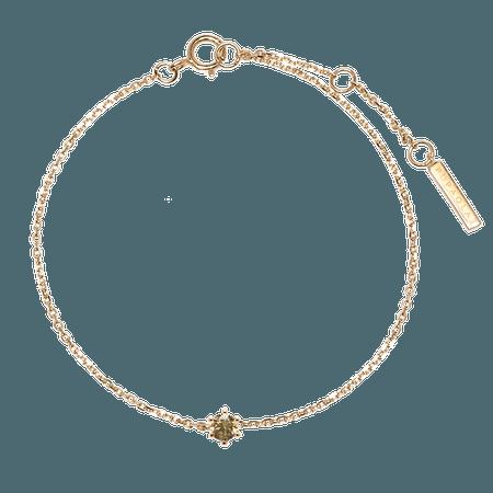 Olive Solitary Bracelet